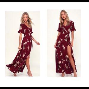 L U L U S- September Sunsets maxi dress